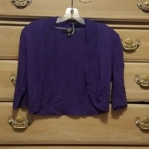 Mossissmo Dark Purple 3/4 Length Sleeved Sweater